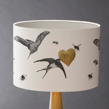 Birds & Bees Lampshade