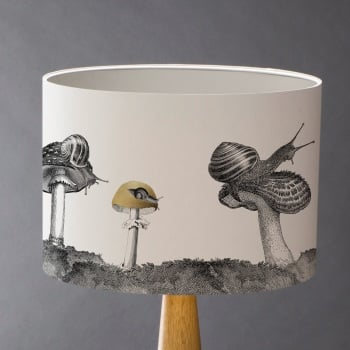 Snails And Mushroom Lampshade