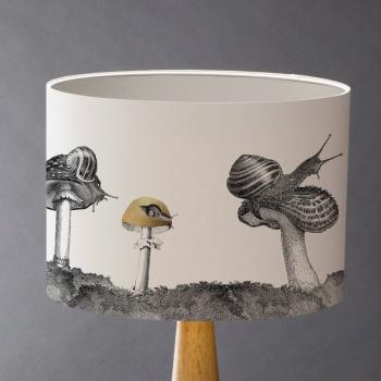 Snails And Mushroom Lampshade