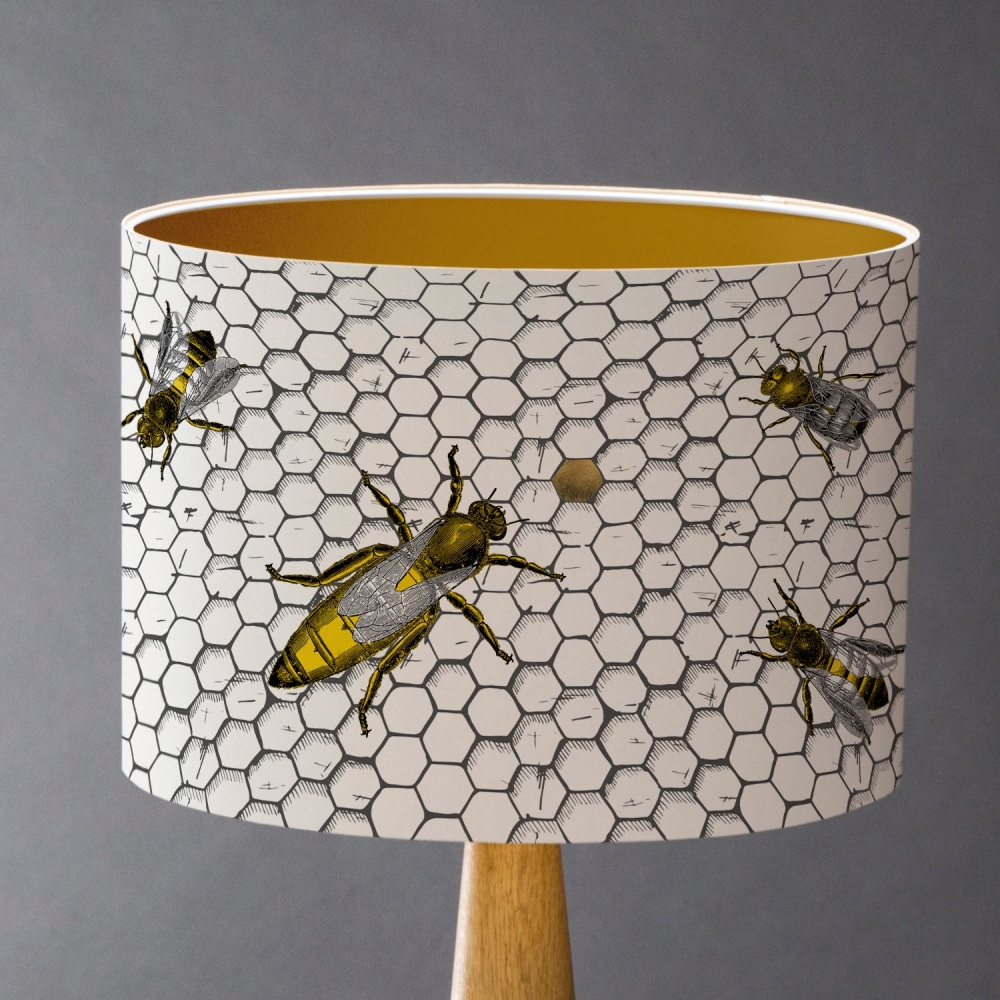 The Hive - Honey Bees Lampshade