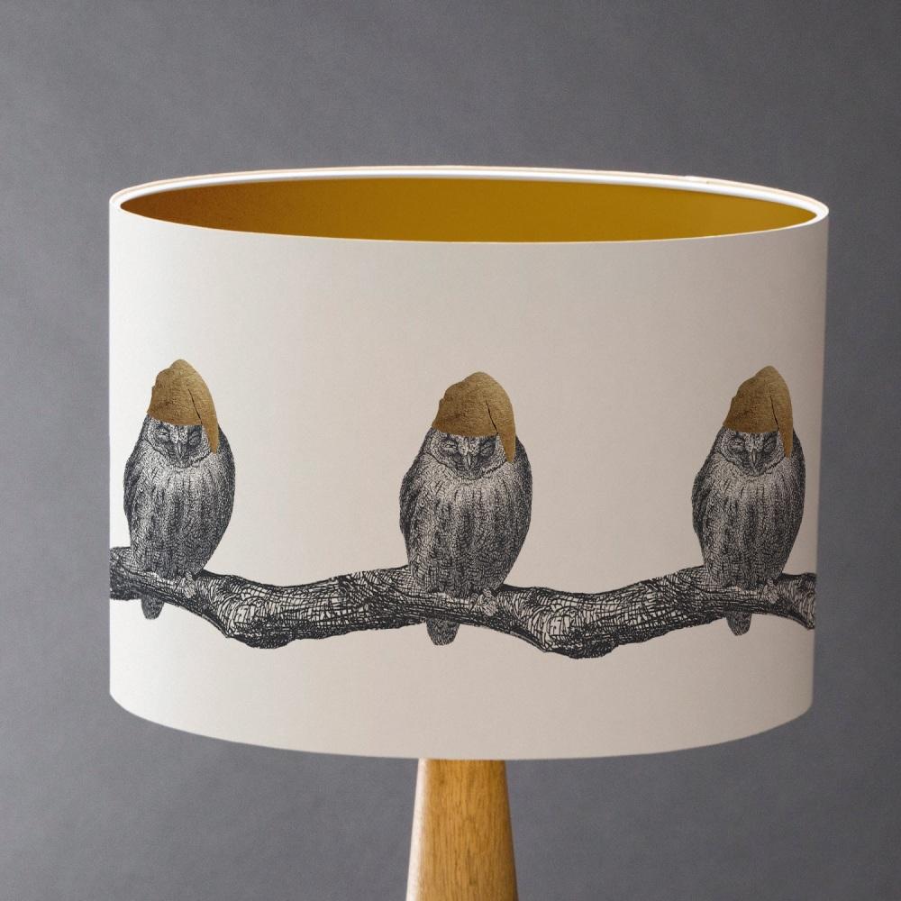Sleepy Owl Lampshade - Sample