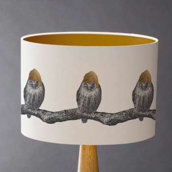 Sleepy Owl Lampshade - Sample