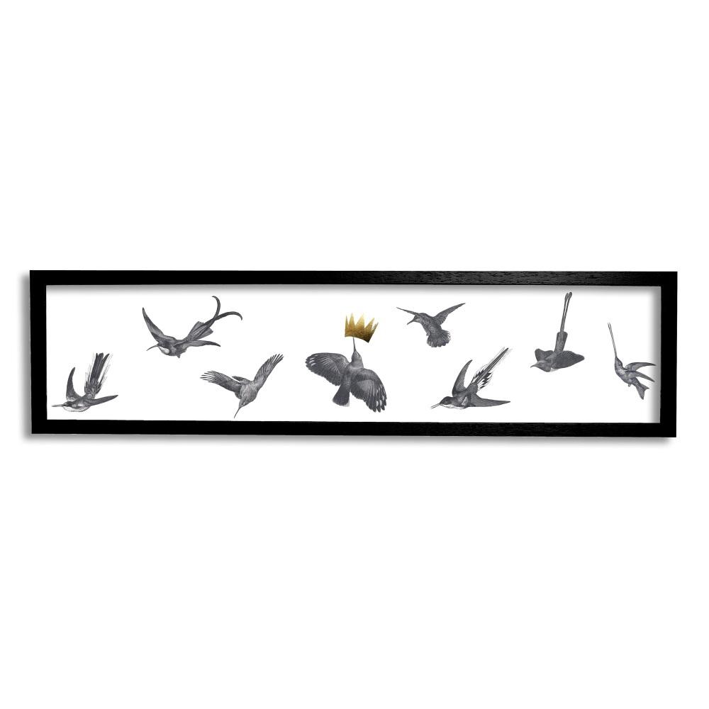 Hummingbirds hand-gilded print