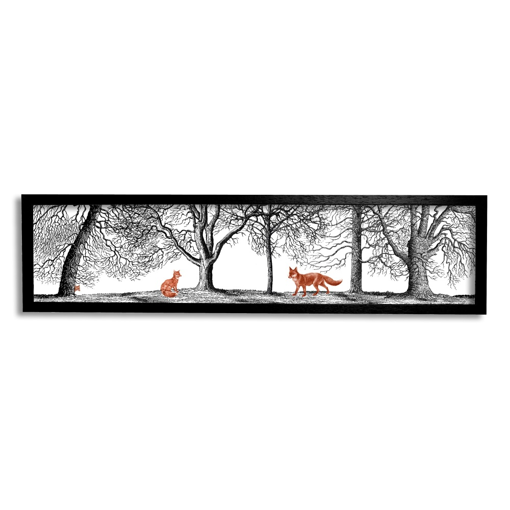 Into the Woods - Foxes Print