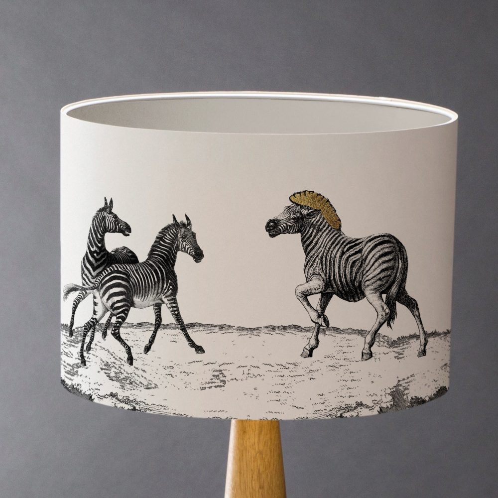 The Dazzle of Zebras Lampshade