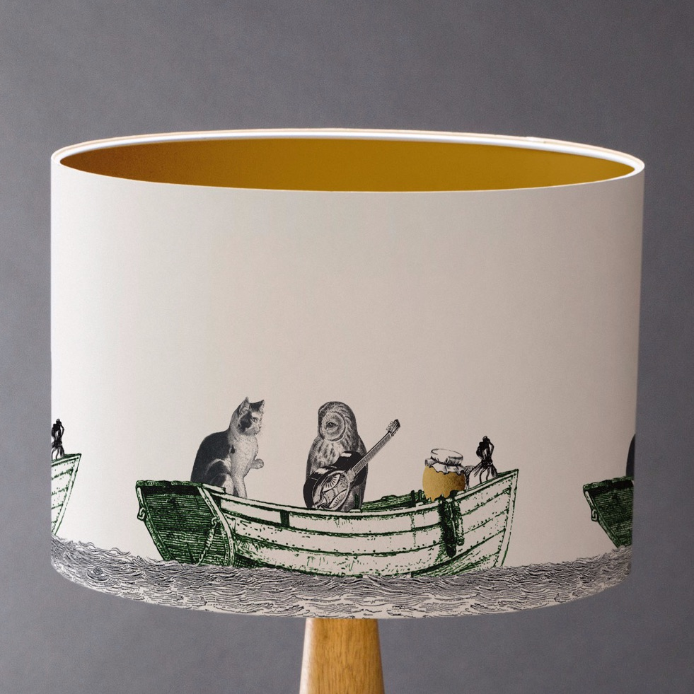 Sample - Owl & Pussycat Lampshade