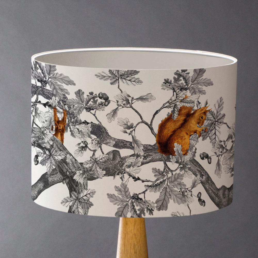 Sample 2 - Red Squirrels Lampshade