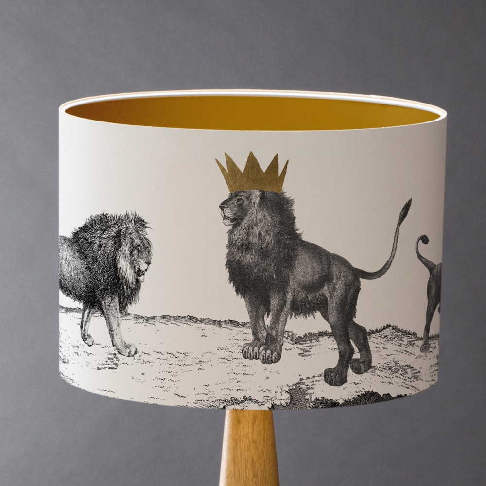 Sample Pride of Lions Lampshade