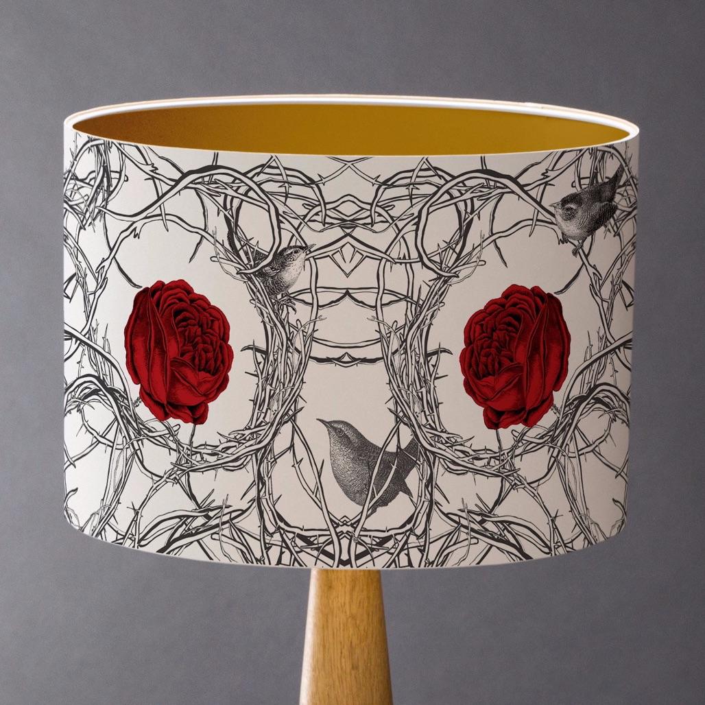 Sample 2 Sleeping Beauty's Roses  Lampshade