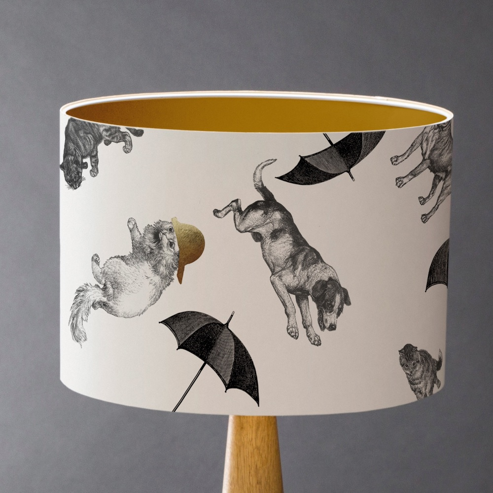 Sample Raining Cats & Dogs Lampshade
