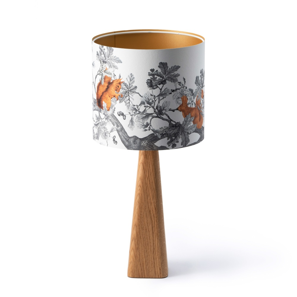 Handmade Small Oak Lamp Base