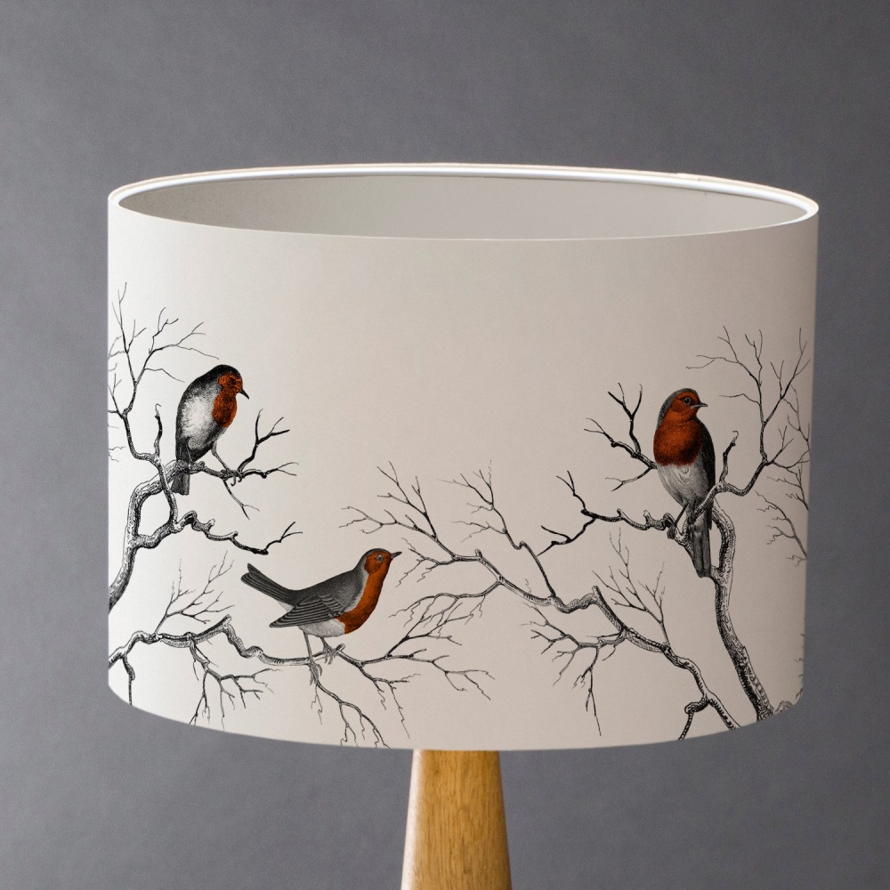 A Riot of Robins Lampshade