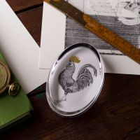 Cockerel Hand Gilded Paperweight