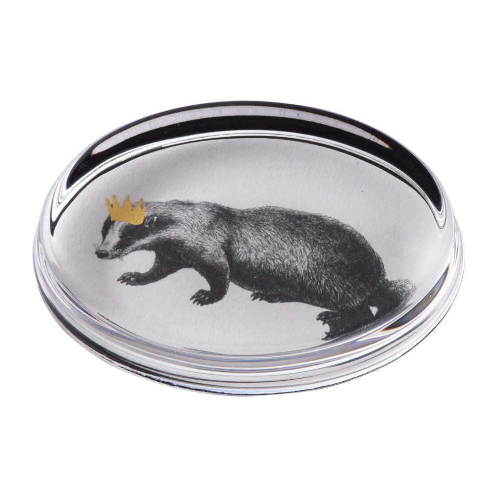 Badger Hand Gilded Paperweight Cut Out