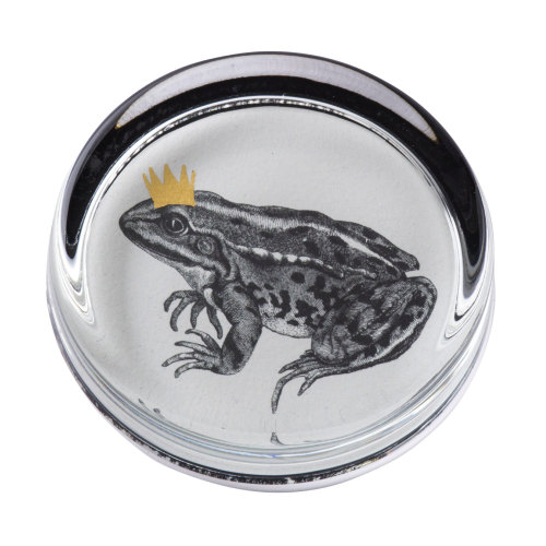Frog Prince Hand Gilded Paperweight Cut Out