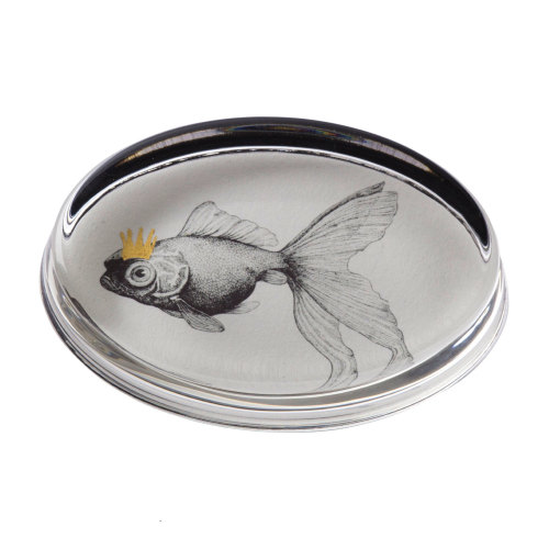 Goldfish Hand Gilded Paperweight Cut Out