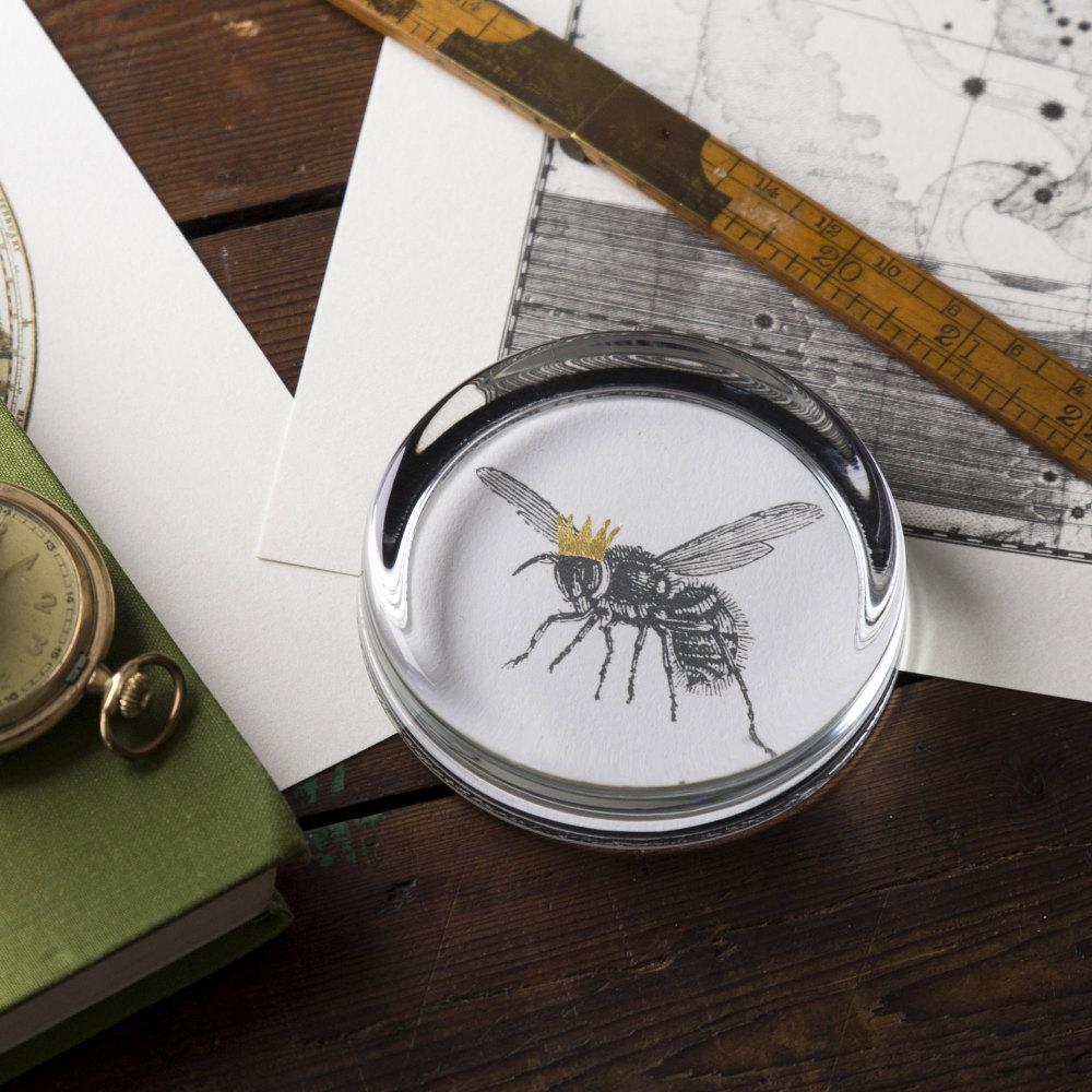 Queen Bee Hand Gilded Paperweight