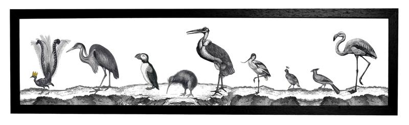 Birds Night Print Cut Out