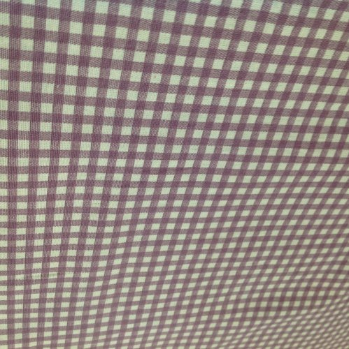 Cotton Canvas - Gingham - Lavender