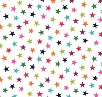 Makower - Wrap It Up - Stars - White