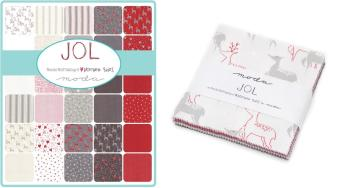 """Moda - Jol - Wenche Wolff Hatling of Northern Quilts - 5"""" Charm Squares"""