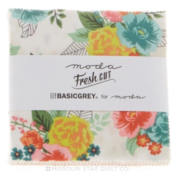 "Moda - Fresh Cut - Basic Grey - 5"" Charm Square"