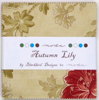 "Moda - Autumn Lily - Blackbird Designs - 5"" Charm Squares"