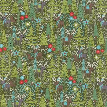 Moda - Basicgrey - Juniper Berry - Coal Forest