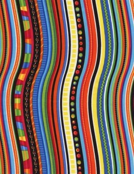 Timeless Treasures - Crazy Stripe Kidz - Multi