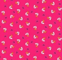 Makower - Papillon - Birds - Pink