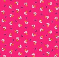 Makower - Papillon - Birds - Pink