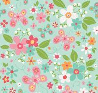 Riley Blake - Garden Girl - Floral - Mint fat quarters only