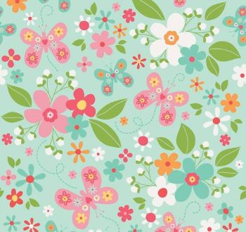 Riley Blake - Garden Girl - Floral - Mint