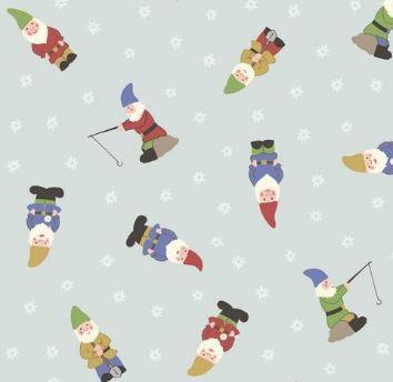 Lewis & Irene - Grandma's Garden - Gnomes - Pale Blue