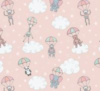 Lewis & Irene - Welcome to the World - Parachuting Babies - Pink