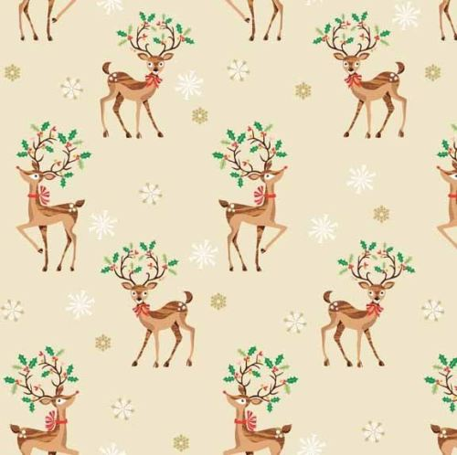 Makower - Traditional Christmas - Reindeer Scatter