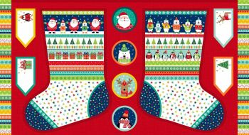 Makower - Novelty Christmas - Large Stocking panel