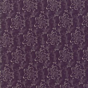 Moda - Lilac Ridge - deep purple with cream leaves - B