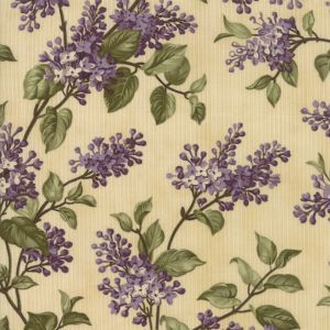 Moda - Lilac Rose - Lilac flowers on beige background