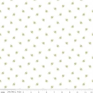 EQS - PENNY ROSE FABRIC JILL FINLEY - COMING UP ROSES BEES - GREEN
