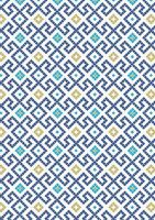 Lewis & Irene - Lindos - Dark blue greek tiles with gold metalic
