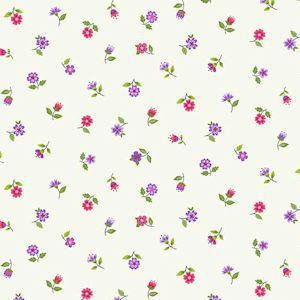 Makower - Bloom - Floral Scatter - Pink