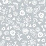 Makower - Essentials - Doodle Ditzy - White on Pewter