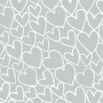 Makower - Essentials - Heart - White on Pewter