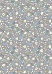Lewis & Irene - Fairy Lights - Magical flowers on grey
