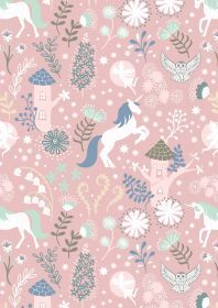 Lewis & Irene - Fairy Lights - Unicorns on Pink