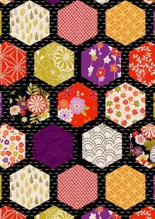 Makower - Kimono - Hexagons