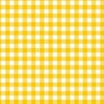 Makower - Gingham - Yellow