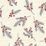 Makower - Scandi - Red pine needles on cream