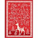 Makower - Scandi - Advent Calendar Panel - Red